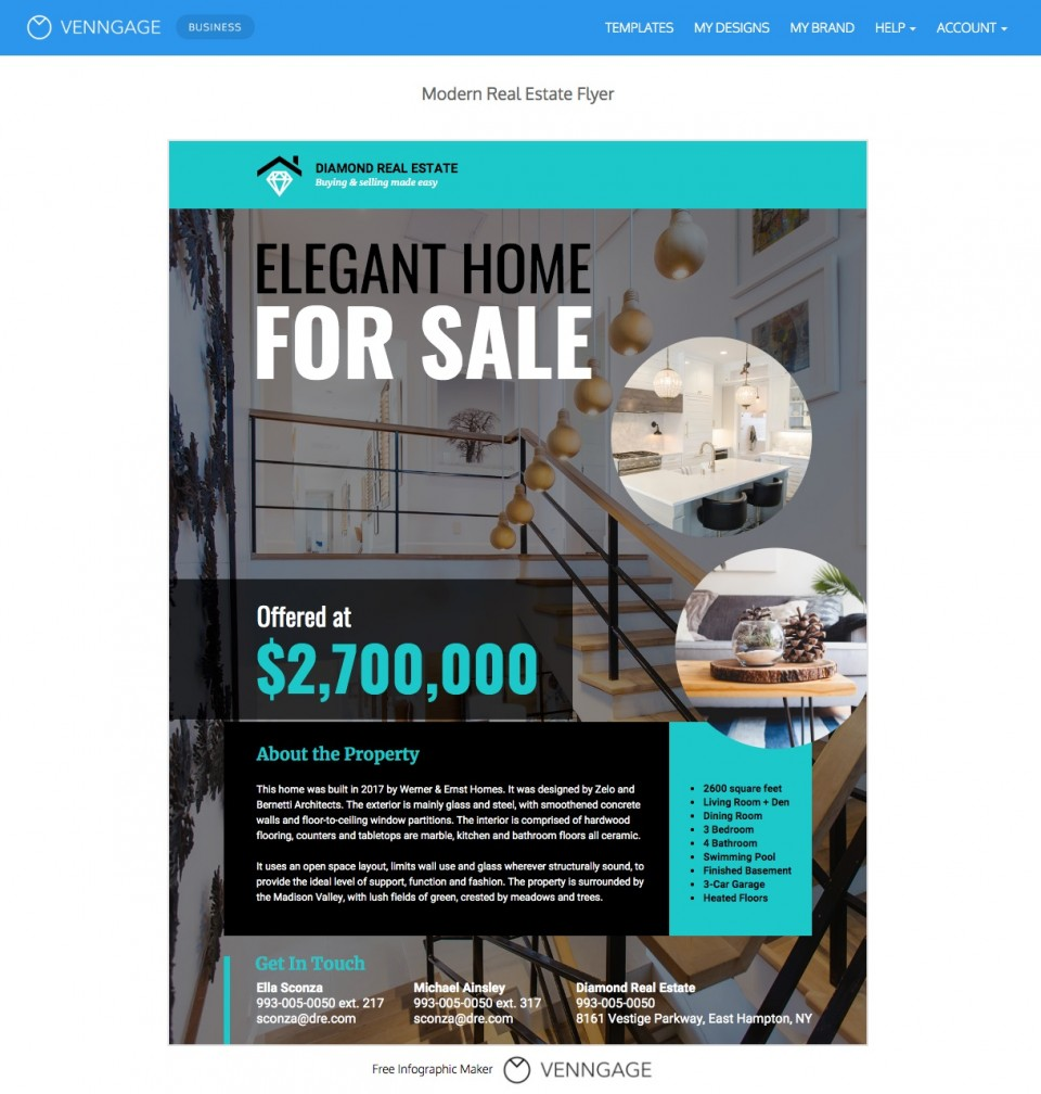 007 Best Real Estate Advertising Template Example  Newspaper Ad Instagram Craigslist960