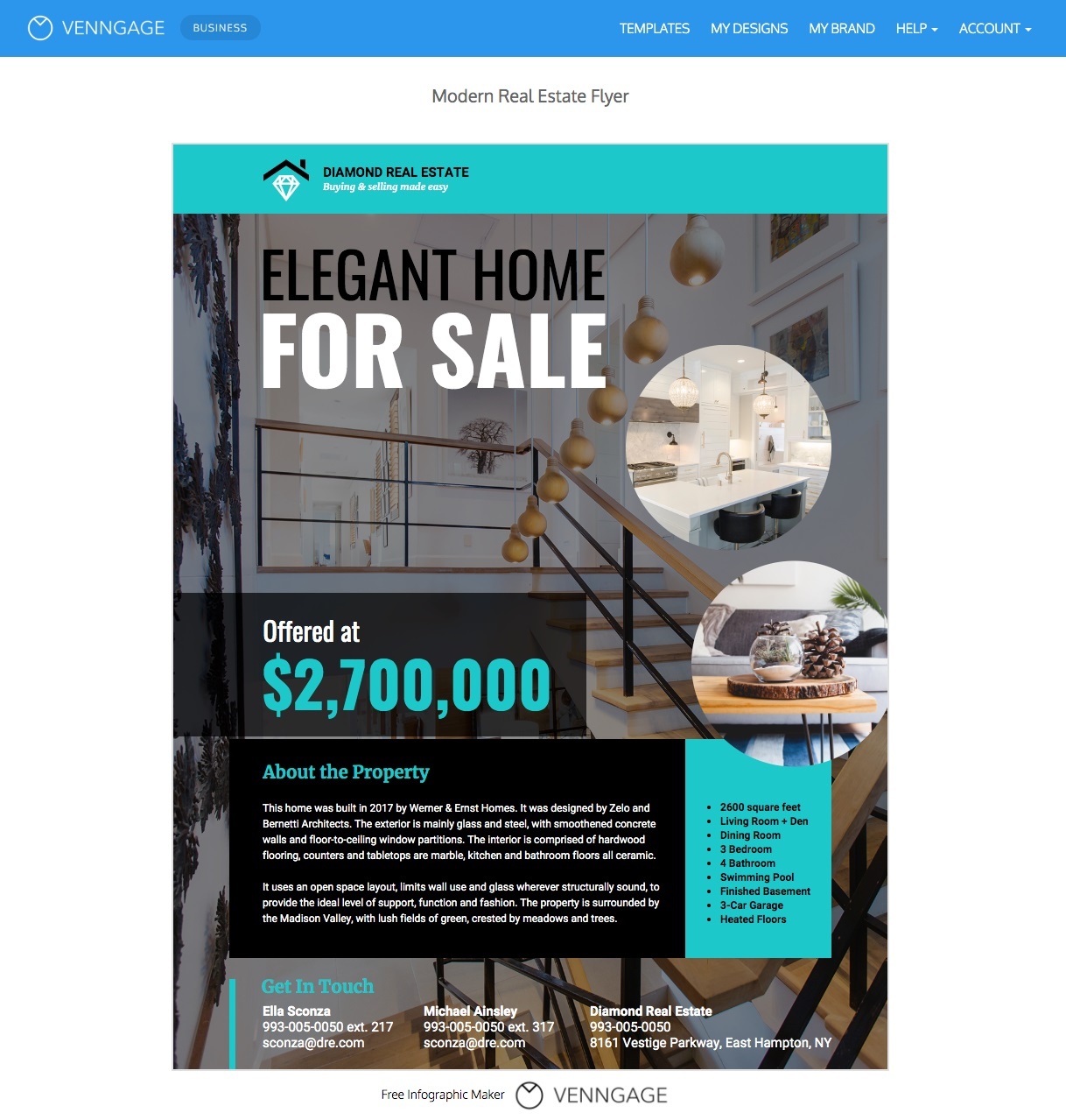 007 Best Real Estate Advertising Template Example  Newspaper Ad Instagram CraigslistFull