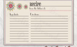 007 Best Recipe Card Template For Word Design  Printable Blank Fillable