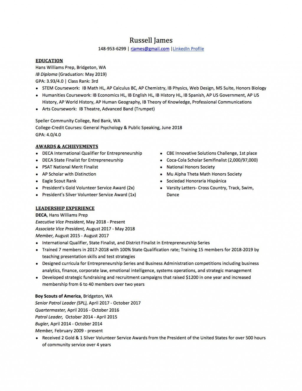 007 Best Resume For College Application Template Highest Clarity  TemplatesLarge