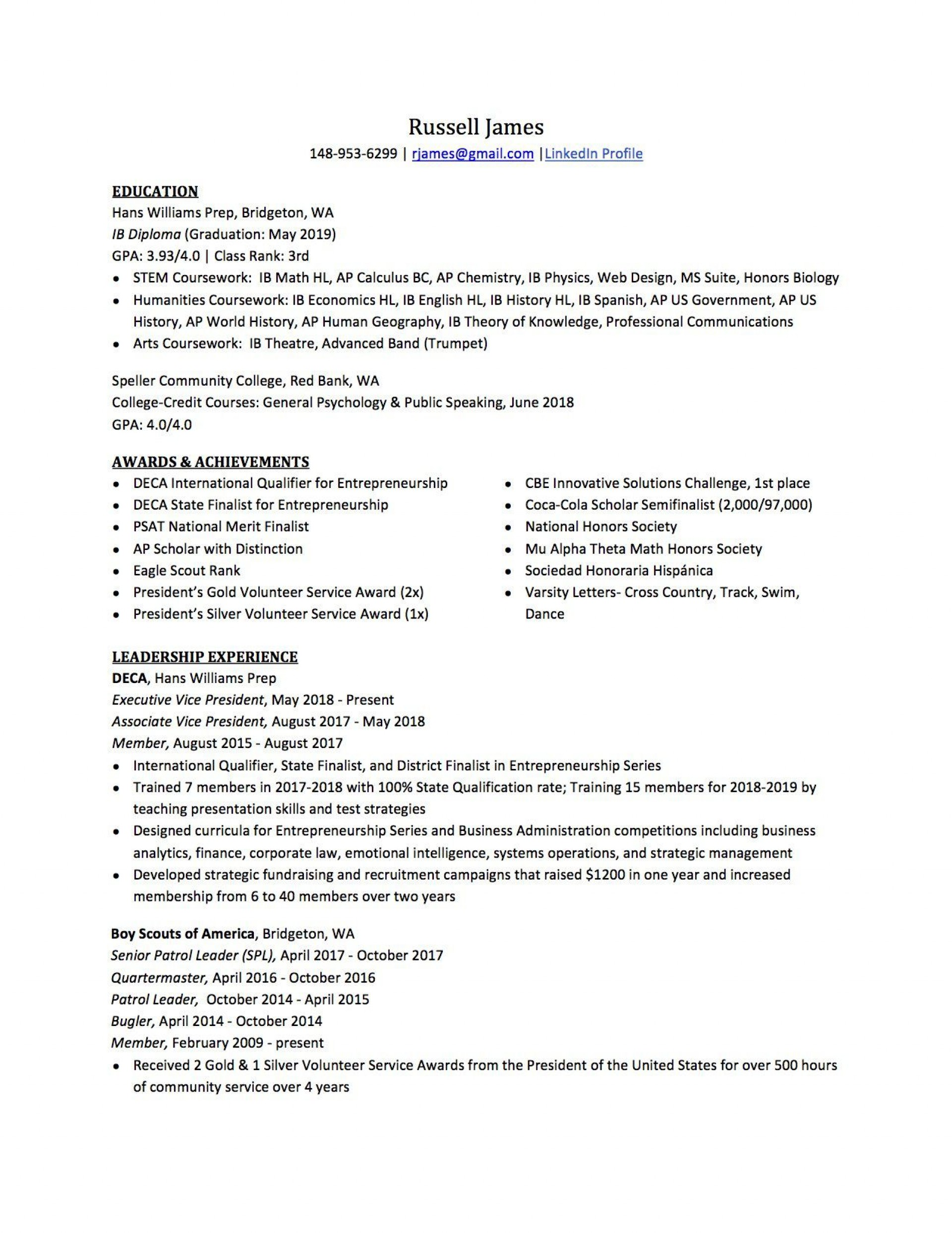 007 Best Resume For College Application Template Highest Clarity  Templates1920