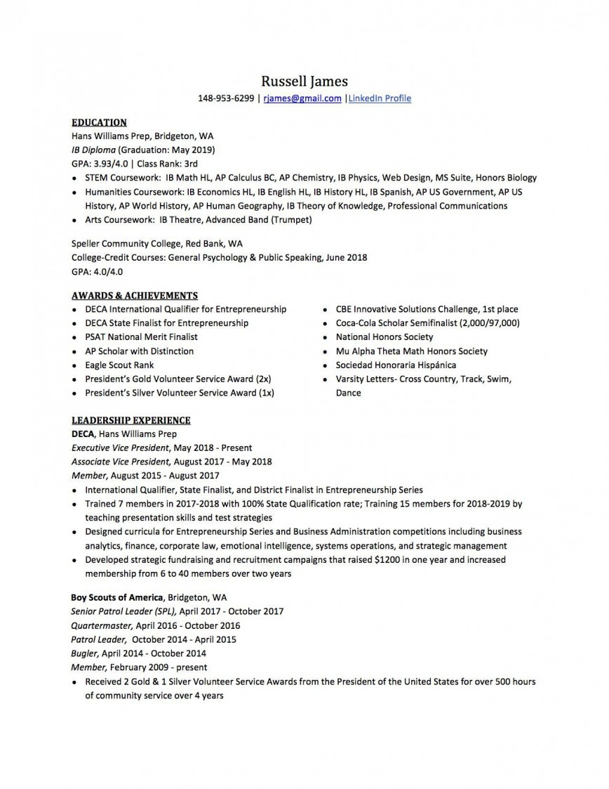 007 Best Resume For College Application Template Highest Clarity  Templates