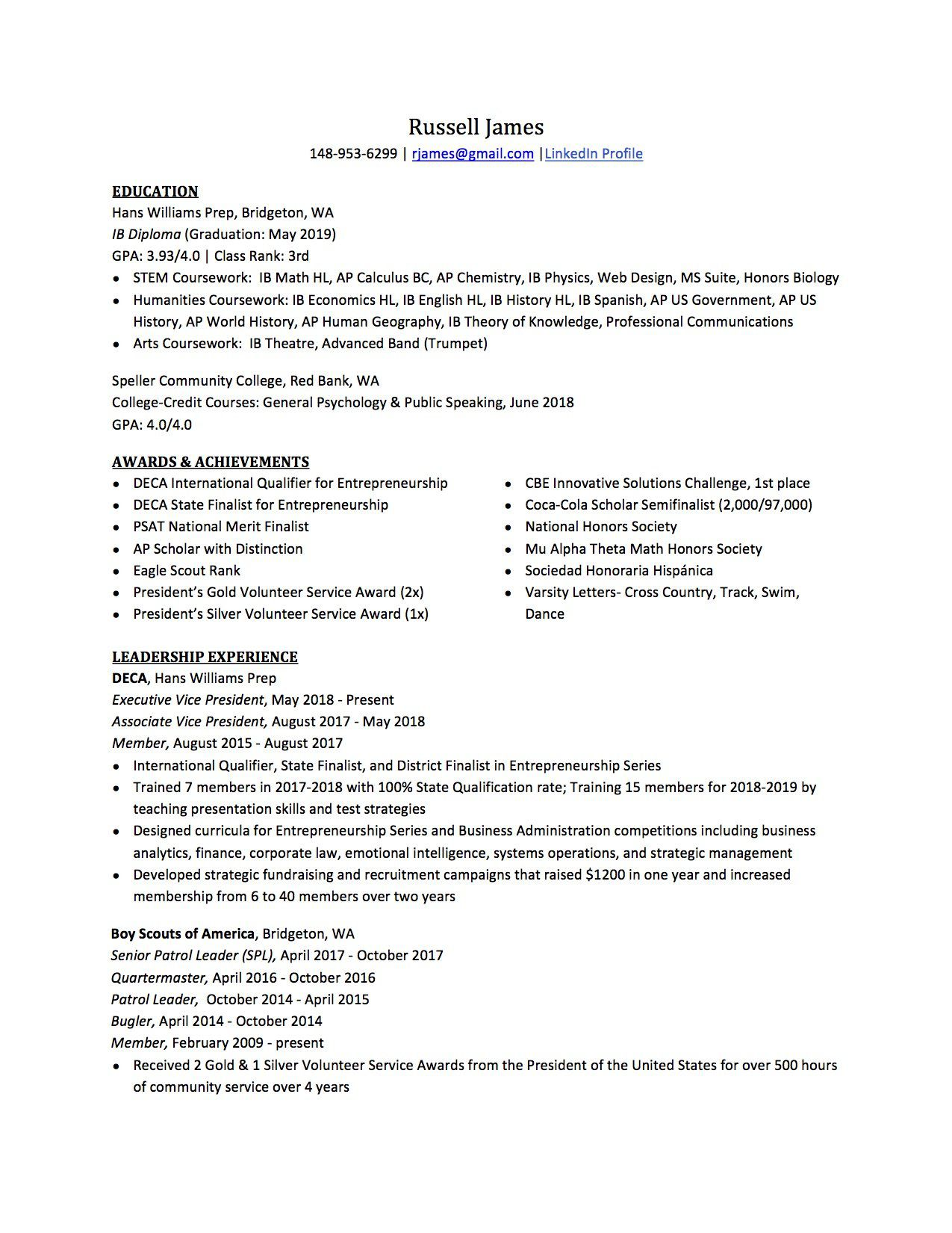 007 Best Resume For College Application Template Highest Clarity  TemplatesFull