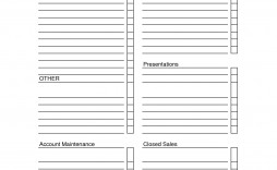 007 Best Sale Call Report Template High Resolution  Free Weekly Excel Pdf