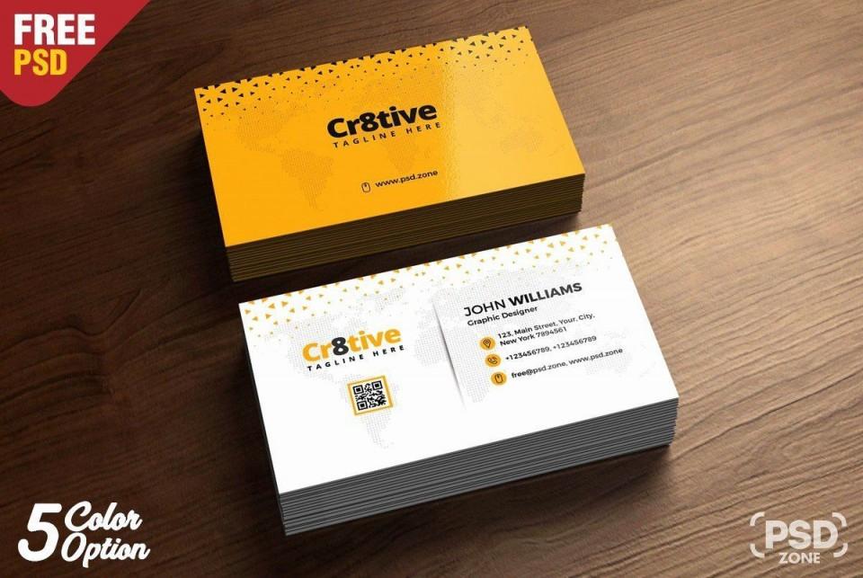 007 Best Simple Busines Card Design Template Free Photo  Minimalist Psd Download960
