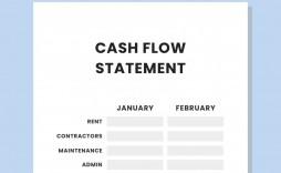 007 Best Statement Of Cash Flow Template Australia High Def