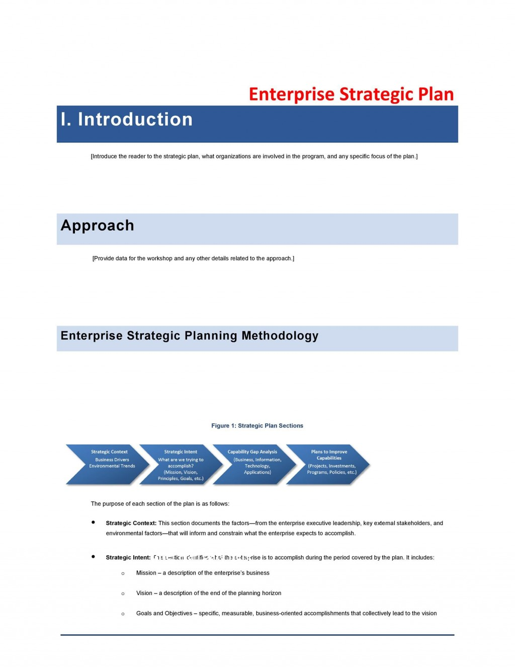 007 Best Strategic Planning Template Free Design  Excel 6 It For CioLarge