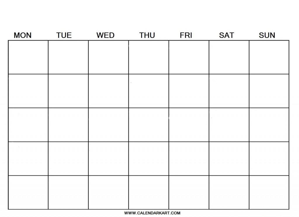 007 Breathtaking Blank Calendar Template Pdf Idea  Free YearlyLarge