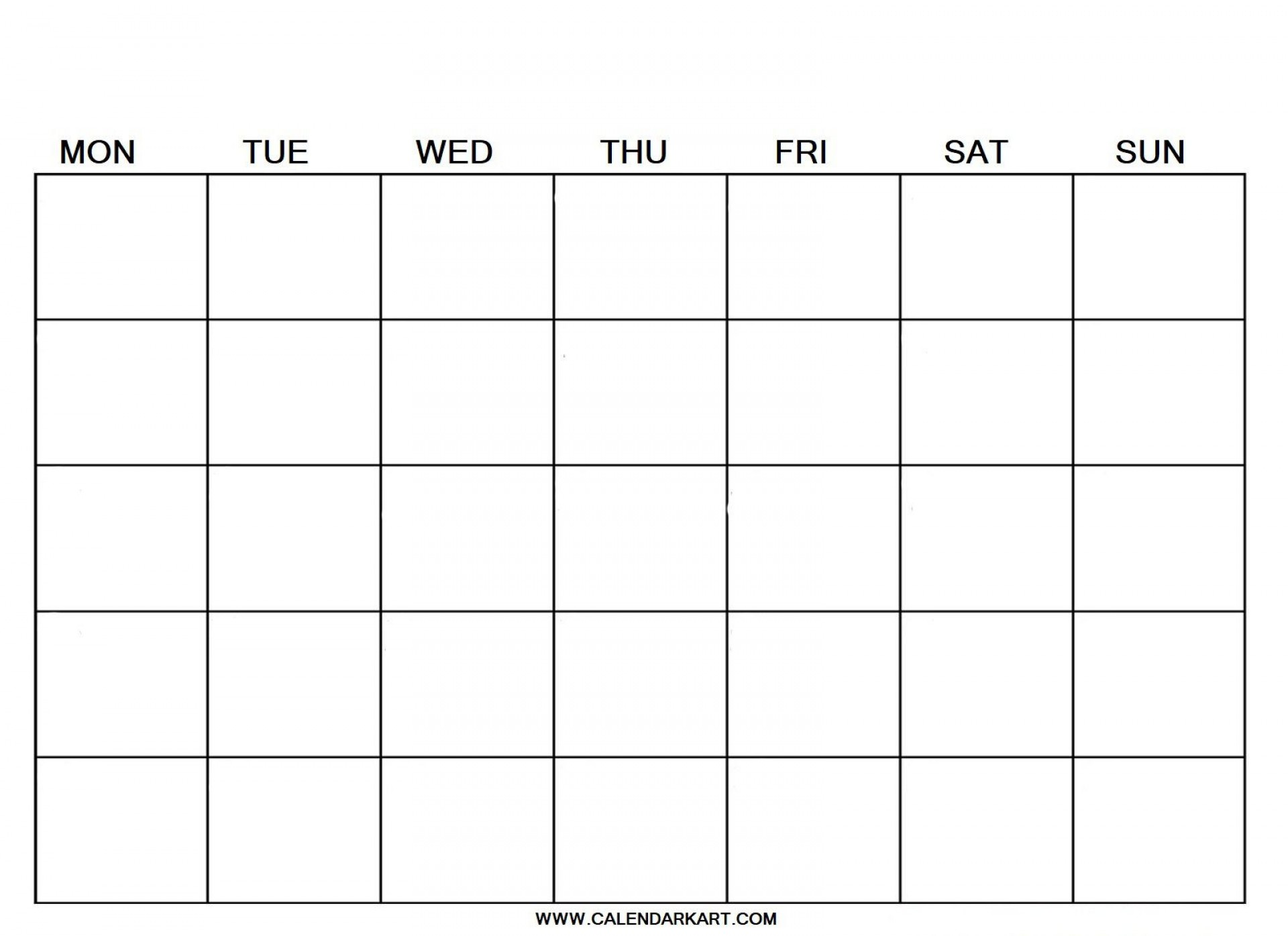 007 Breathtaking Blank Calendar Template Pdf Idea  Free Yearly1920