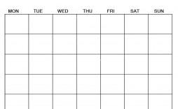 007 Breathtaking Blank Calendar Template Pdf Idea  Free Yearly