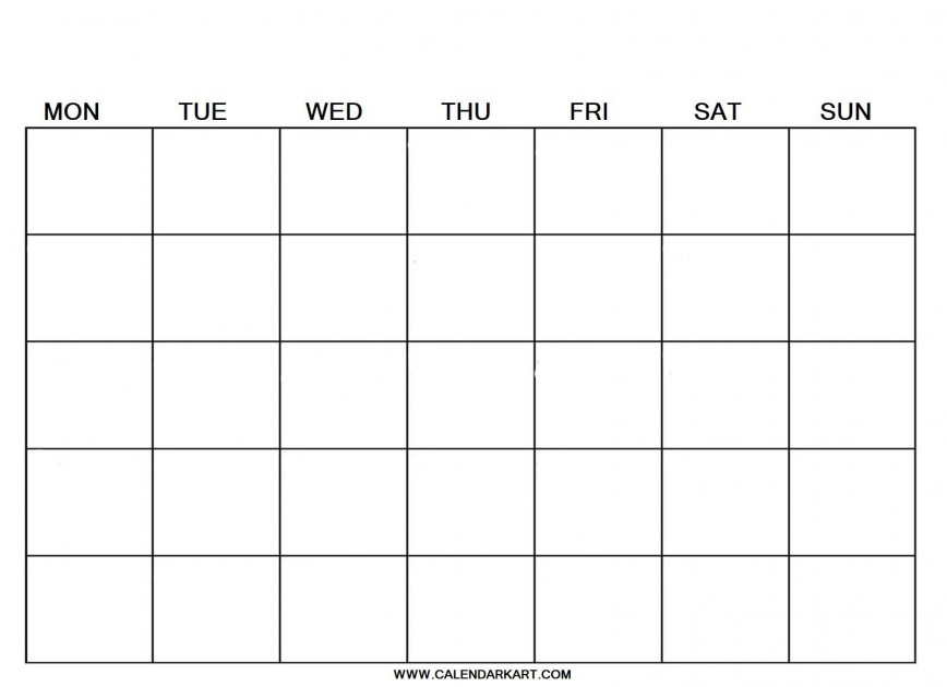 007 Breathtaking Blank Calendar Template Pdf Idea  2019 Weekly
