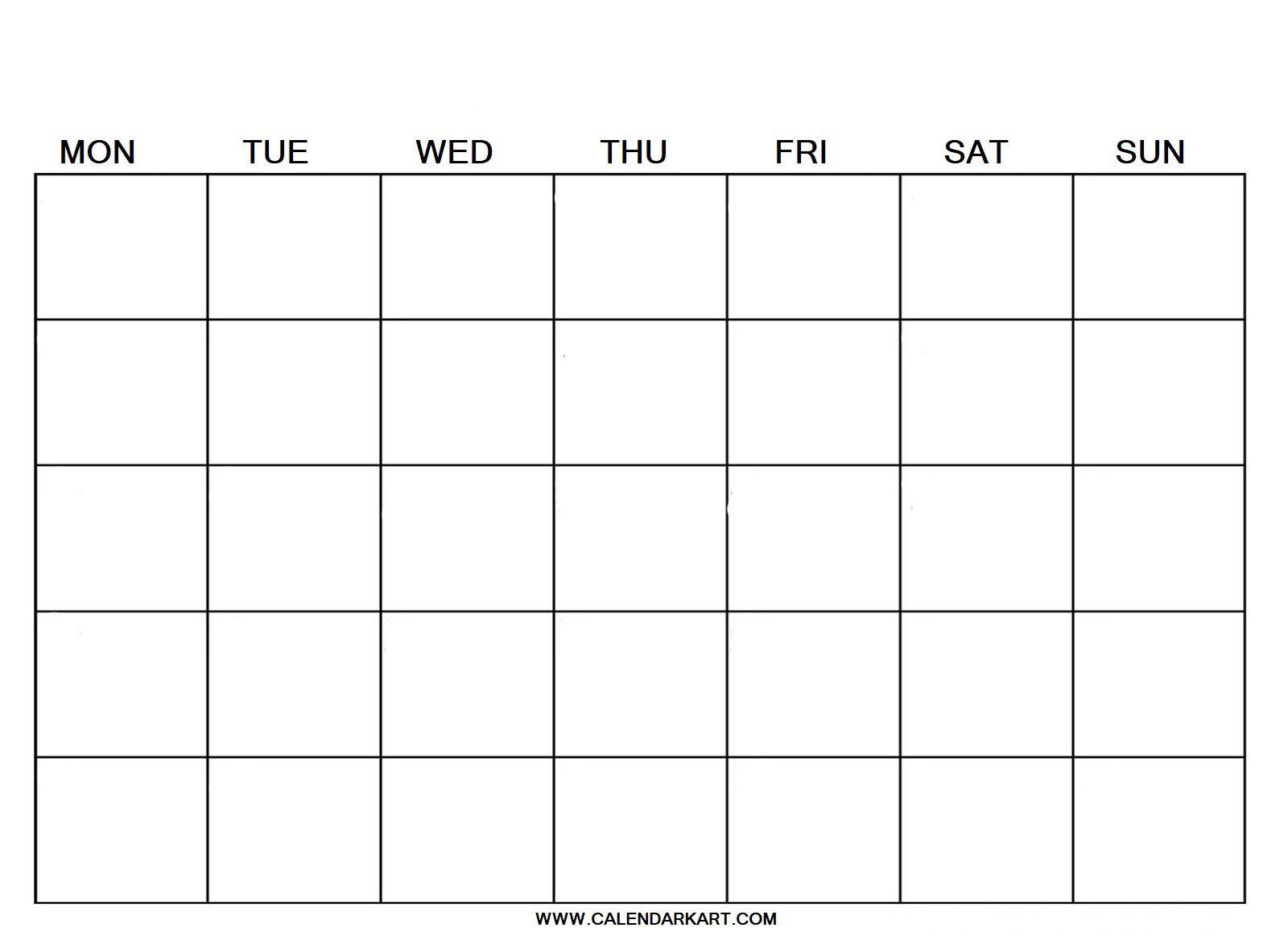 007 Breathtaking Blank Calendar Template Pdf Idea  Free YearlyFull