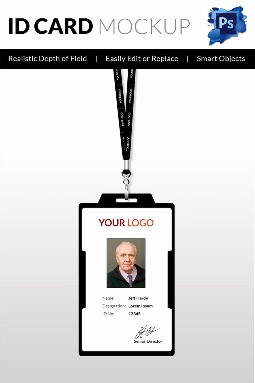 007 Breathtaking Blank Id Card Template Idea  Design Free Download EditableLarge