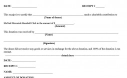 007 Breathtaking Charitable Tax Receipt Template High Resolution  Donation