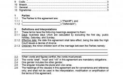 007 Breathtaking Divorce Settlement Agreement Template Concept  Sample New York Marital Uk South Africa