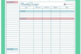007 Breathtaking Free Blank Monthly Budget Sheet Concept  Printable Worksheet