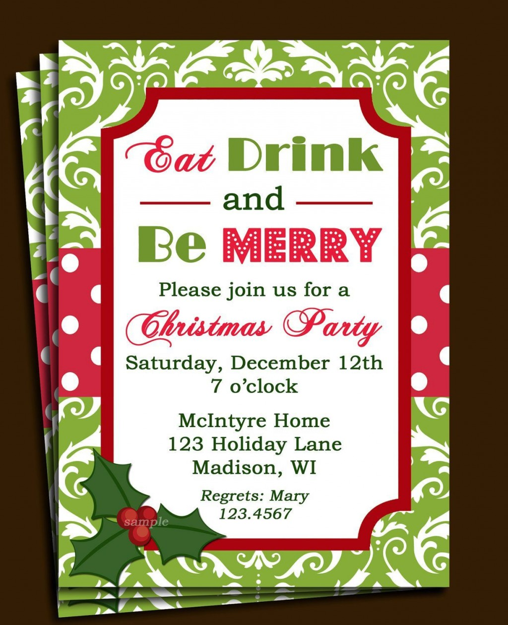 007 Breathtaking Free Holiday Party Invitation Template For Word Highest Clarity Large
