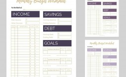 007 Breathtaking Free Monthly Budget Template For Mac High Def  Personal Spreadsheet Household
