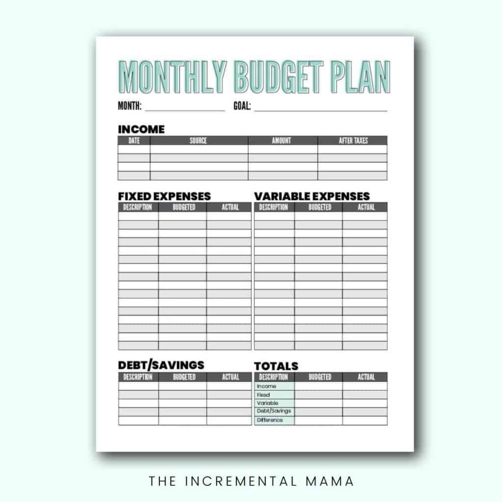 007 Breathtaking Free Monthly Budget Worksheet Printable Highest Clarity  Template Family BlankFull