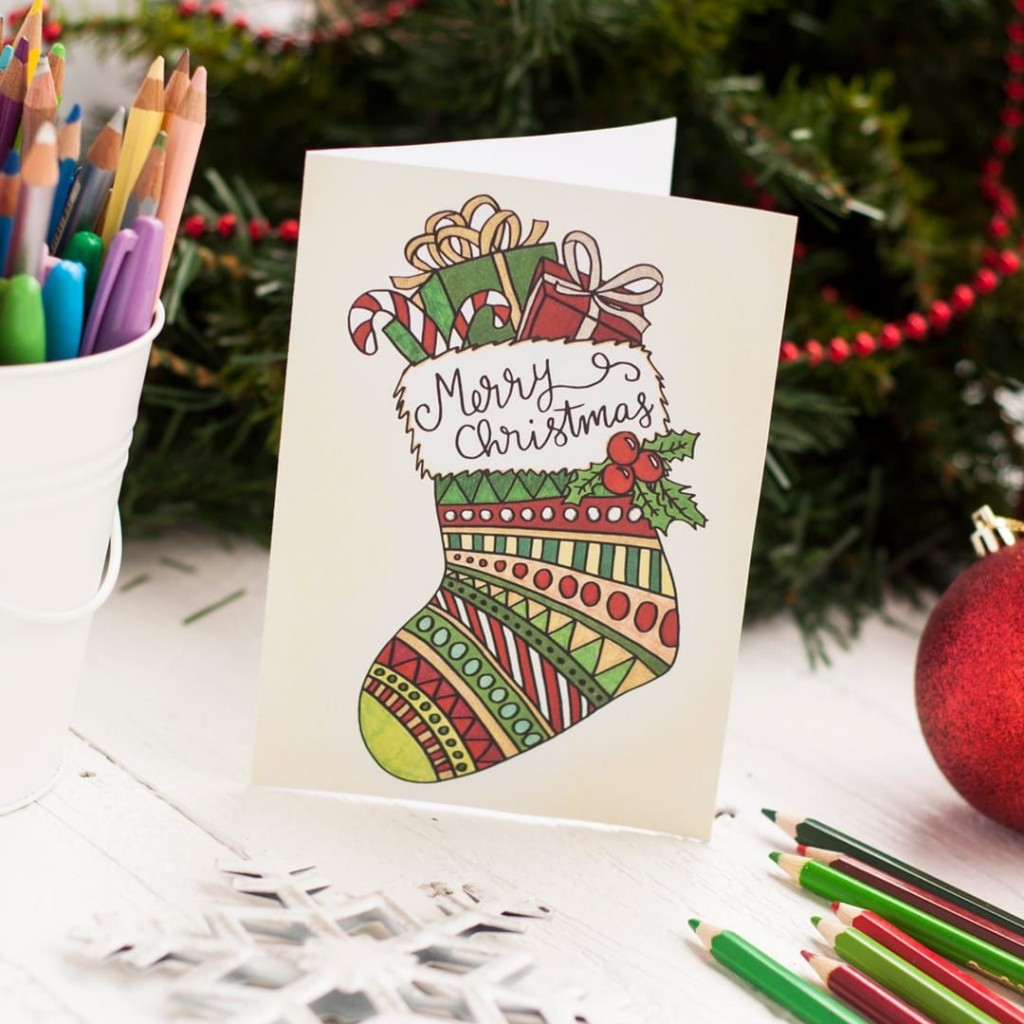 007 Breathtaking Free Printable Xma Card Template Inspiration  Templates Christma Making Online To ColourLarge