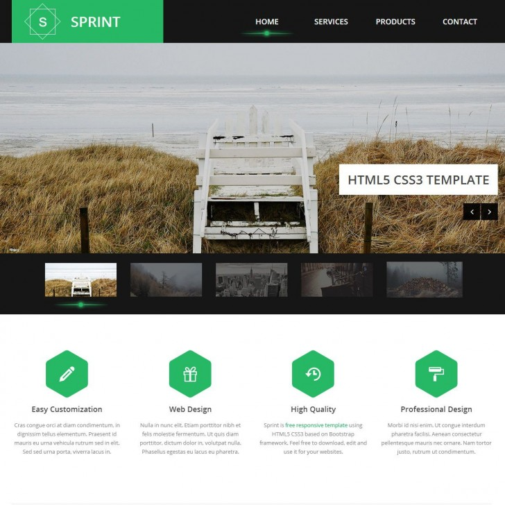 007 Breathtaking Free Responsive Website Template Download Html And Cs Jquery Image  For It Company728
