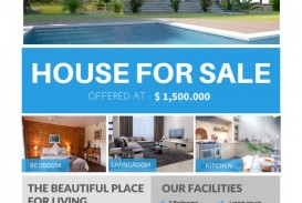 007 Breathtaking House For Sale Flyer Template Inspiration  Free Real Estate Example By Owner