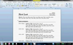 007 Breathtaking How To Create A Resume Template In Word 2013 Example  Make