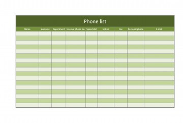 007 Breathtaking Microsoft Excel Phone List Template High Definition  Contact Part360