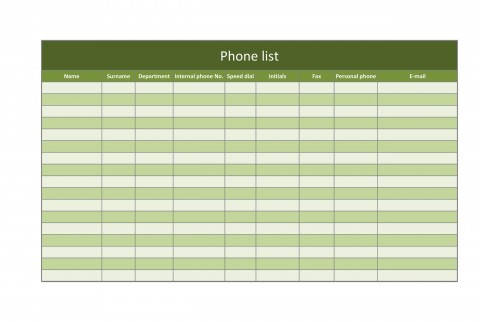007 Breathtaking Microsoft Excel Phone List Template High Definition  Contact Part480