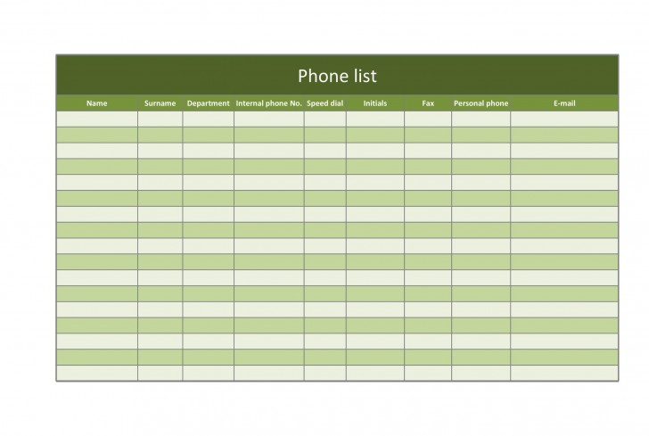 007 Breathtaking Microsoft Excel Phone List Template High Definition  Contact Part728