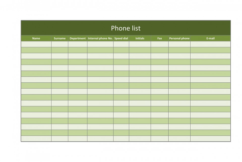 007 Breathtaking Microsoft Excel Phone List Template High Definition  Contact Part960