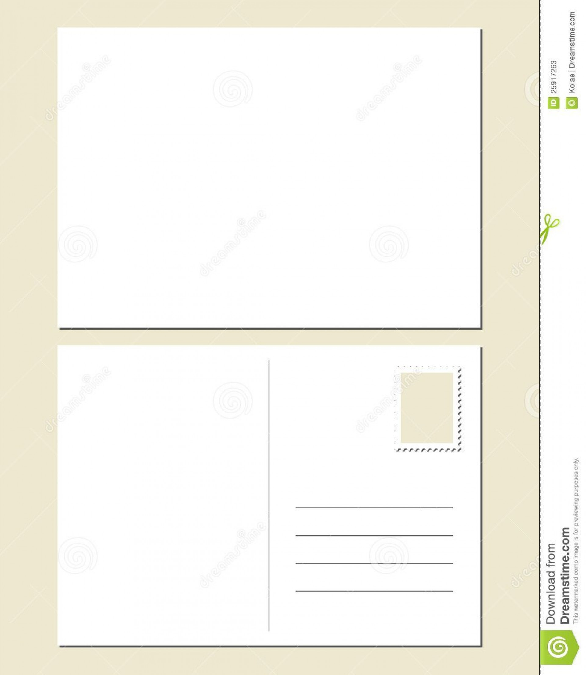 007 Breathtaking Postcard Front And Back Template Free Image  To School1920