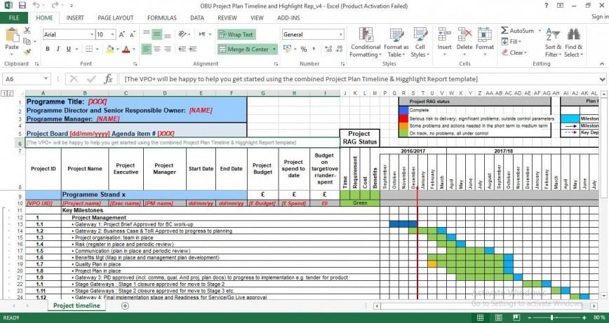 007 Breathtaking Project Management Timeline Template Photo  Excel Plan Free Xl