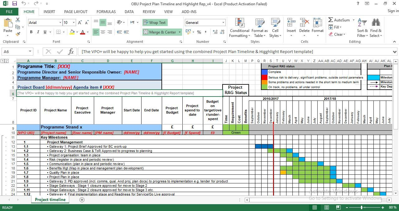 007 Breathtaking Project Management Timeline Template Photo  Plan Pmbok PlannerFull