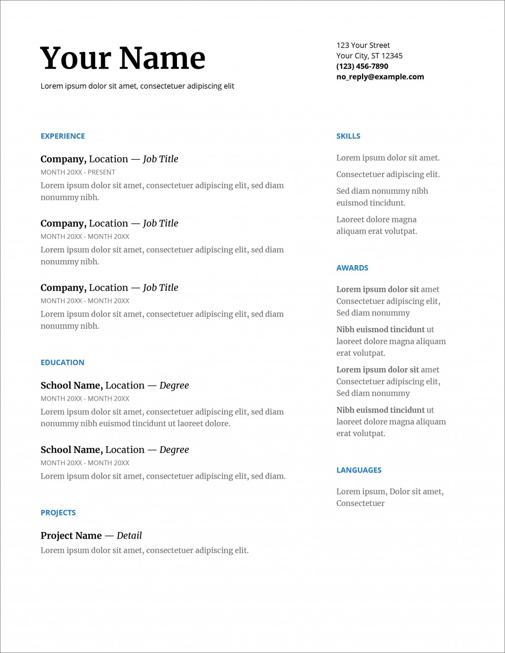 007 Breathtaking Resume Layout Microsoft Word 2007 Example  Template Cv Free DownloadLarge
