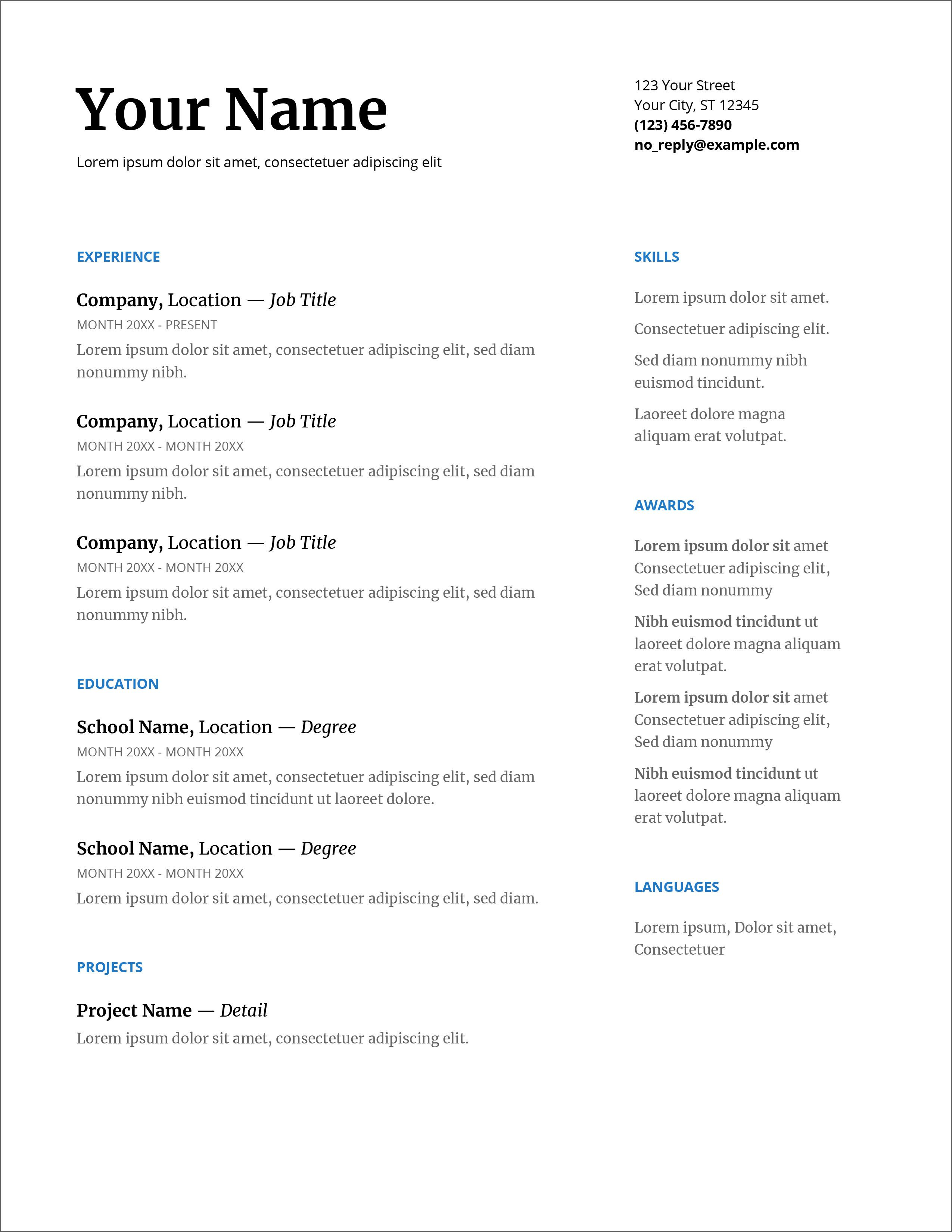 007 Breathtaking Resume Layout Microsoft Word 2007 Example  Template Cv Free DownloadFull