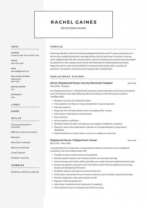 007 Breathtaking Resume Template For Nurse High Def  Sample Nursing Assistant With No Experience Rn' Free480