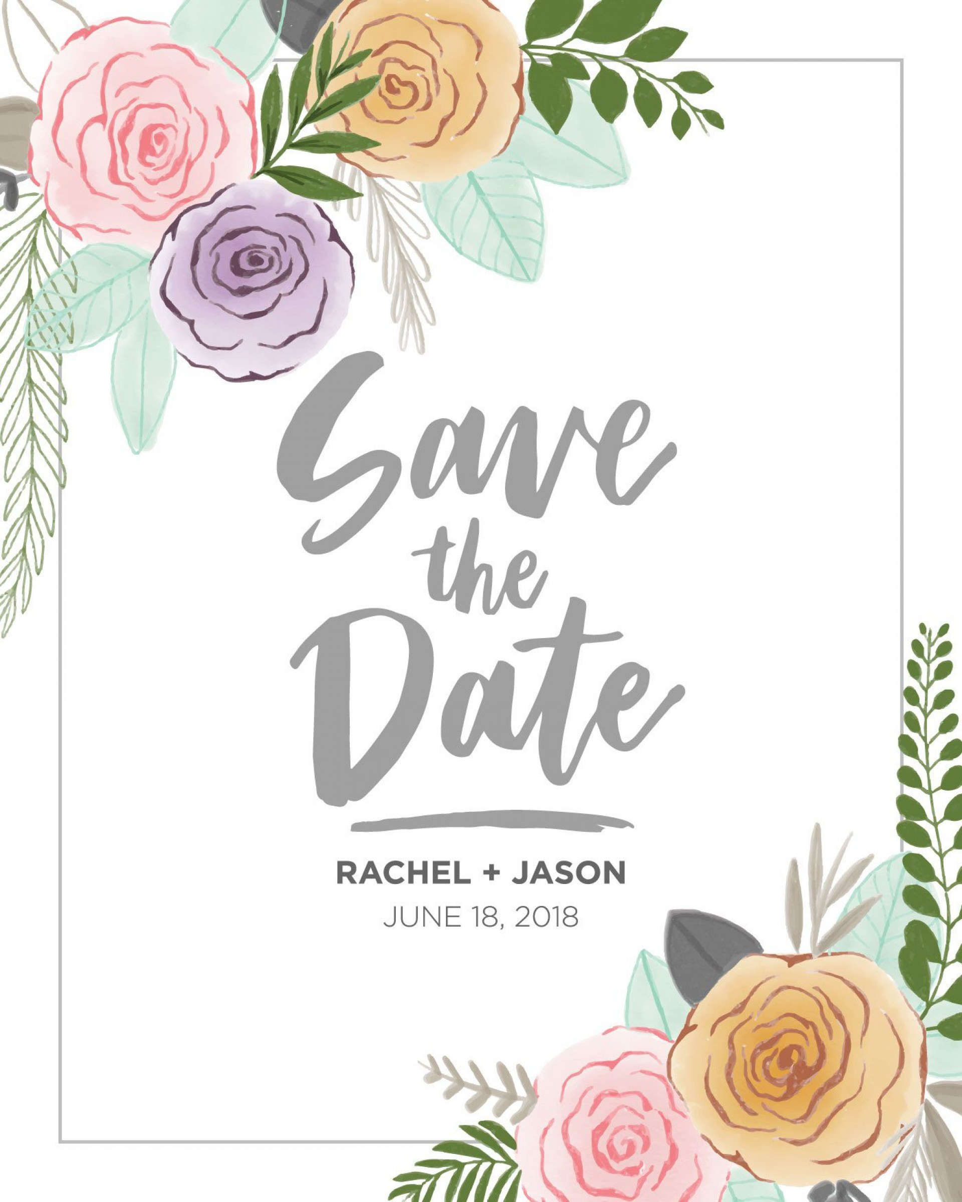 007 Breathtaking Save The Date Template Photoshop Sample  Adobe Card1920