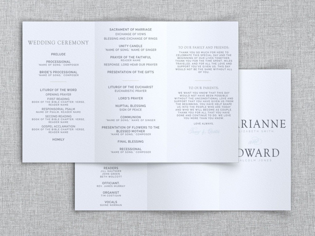 007 Breathtaking Trifold Wedding Program Template Example  Tri Fold Word FoldedLarge
