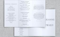 007 Breathtaking Trifold Wedding Program Template Example  Tri Fold Word Folded
