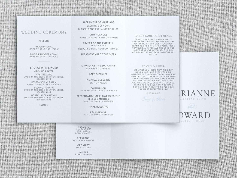 007 Breathtaking Trifold Wedding Program Template Example  Tri Fold Word FoldedFull