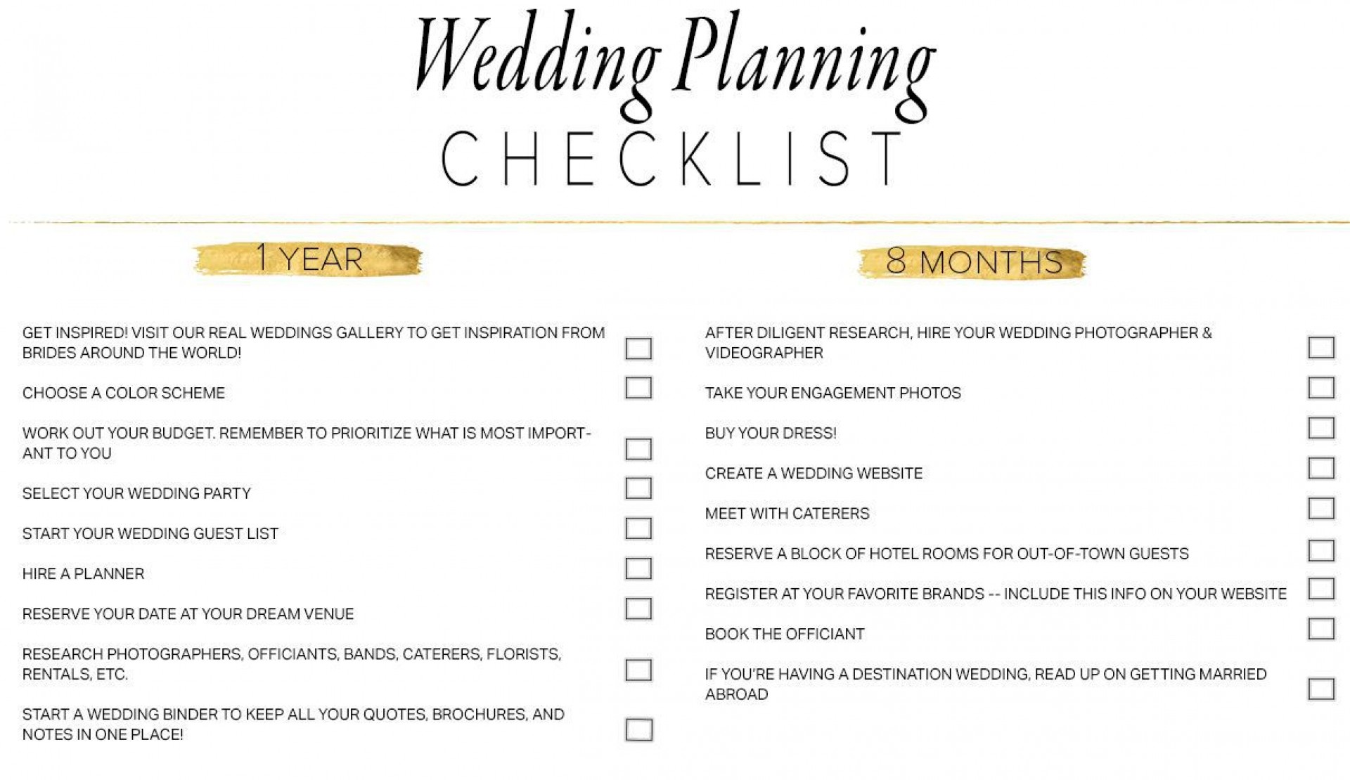 007 Breathtaking Wedding Planning Timeline Template Design  Day Planner Of 6 Month1920