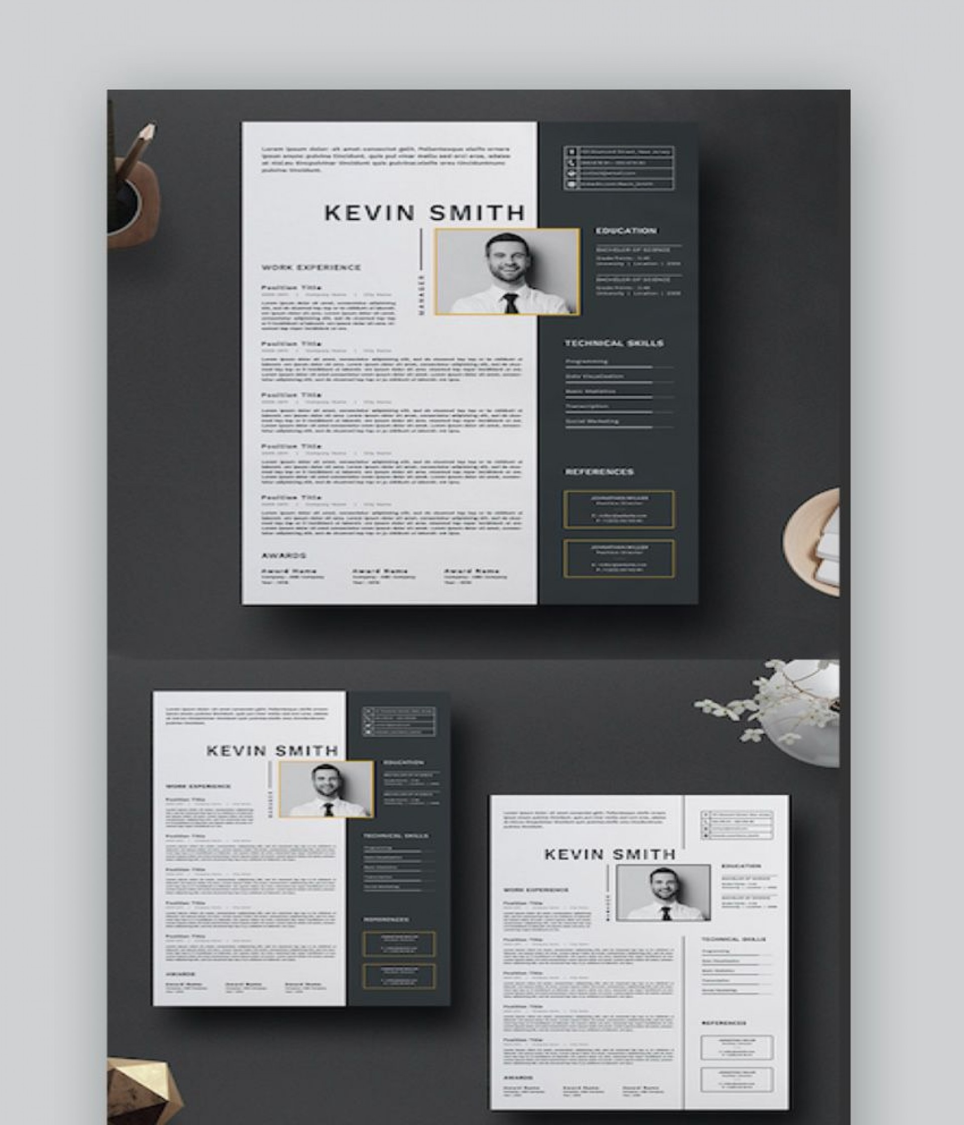 007 Dreaded Adobe Photoshop Resume Template Free Image  Download1920