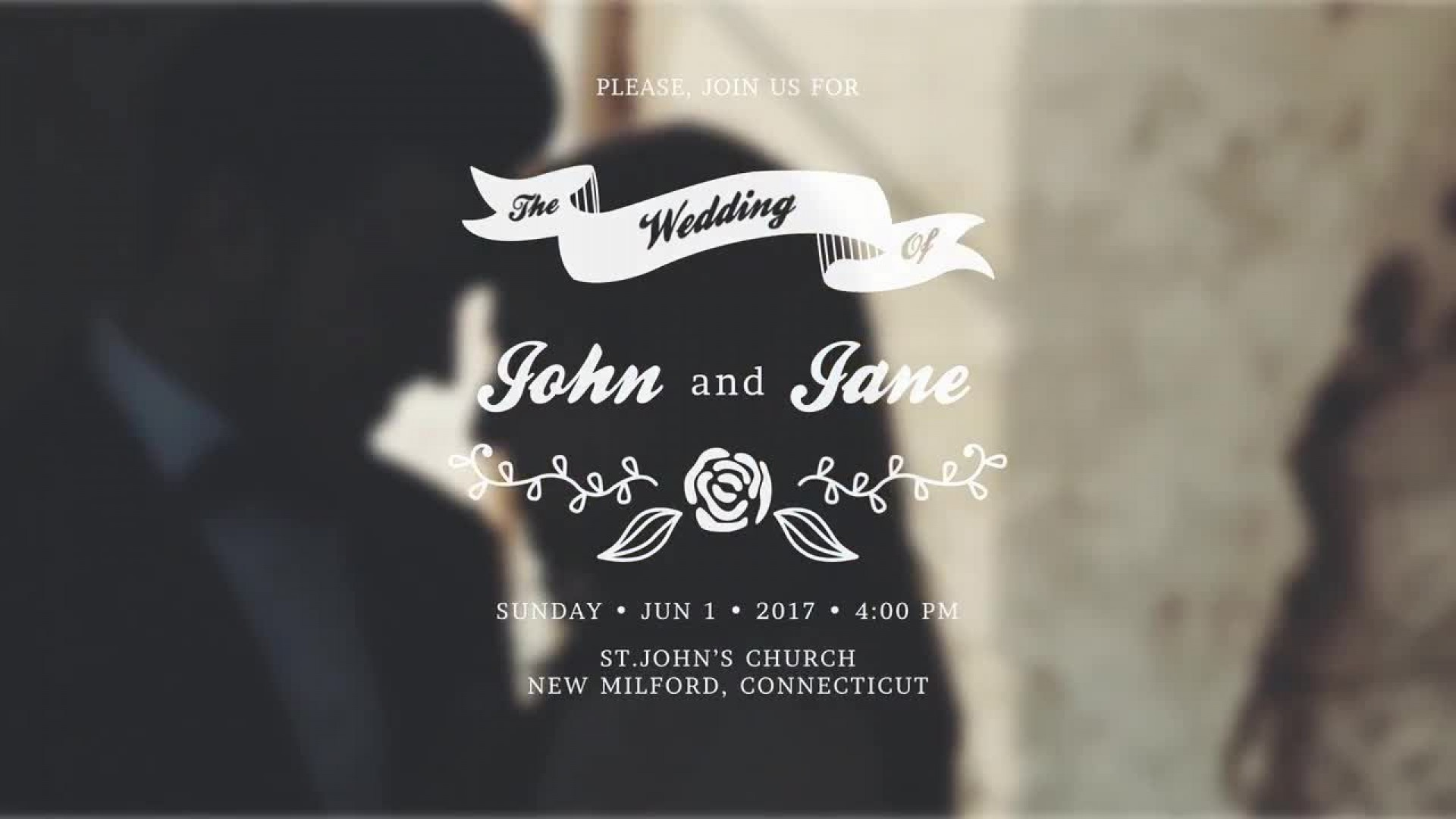 007 Dreaded After Effect Wedding Template Inspiration  Templates Free Download Cc Invitation1920