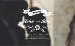007 Dreaded After Effect Wedding Template Inspiration  Templates Free Download Cc Invitation
