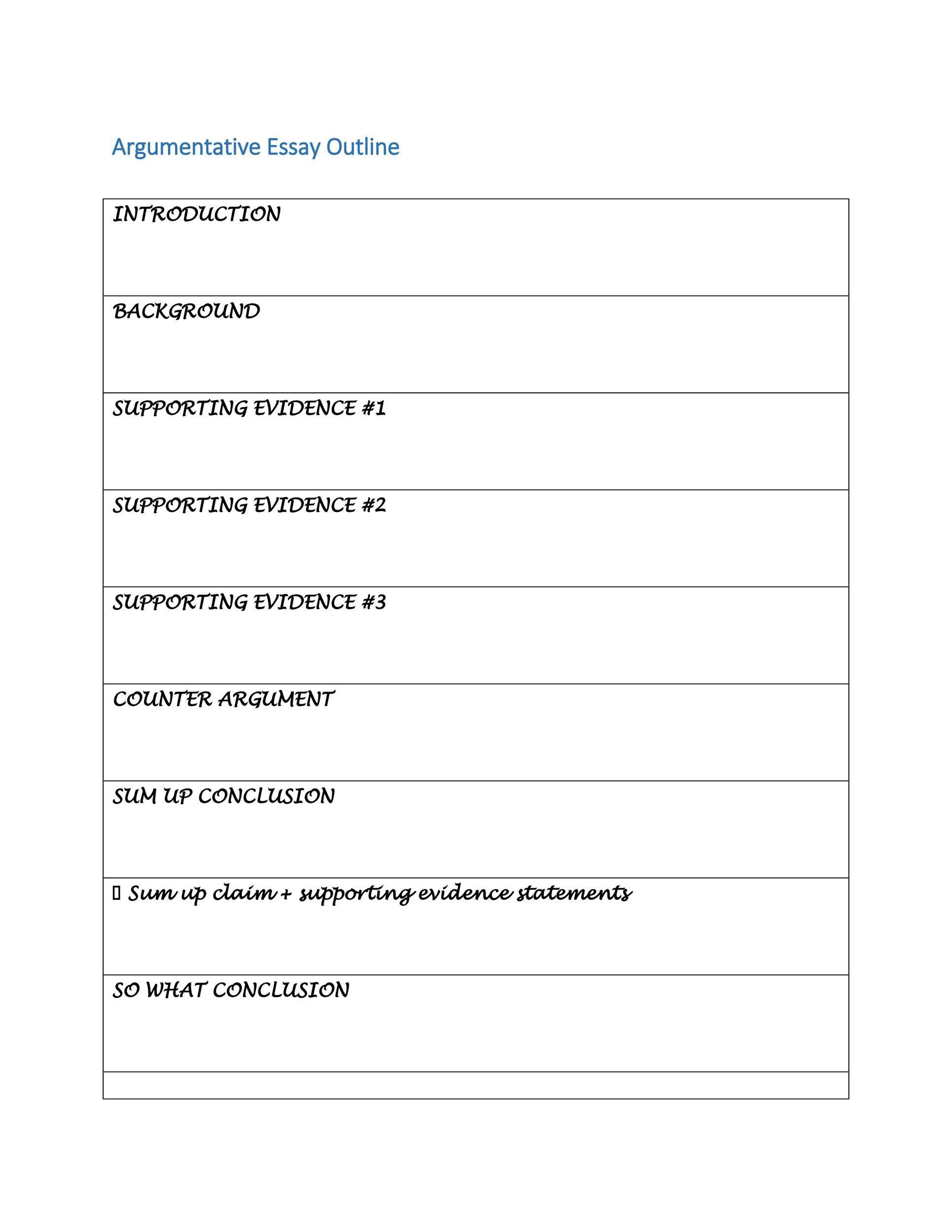 007 Dreaded Argumentative Essay Outline Template Inspiration  Mla Format Doc Middle SchoolFull