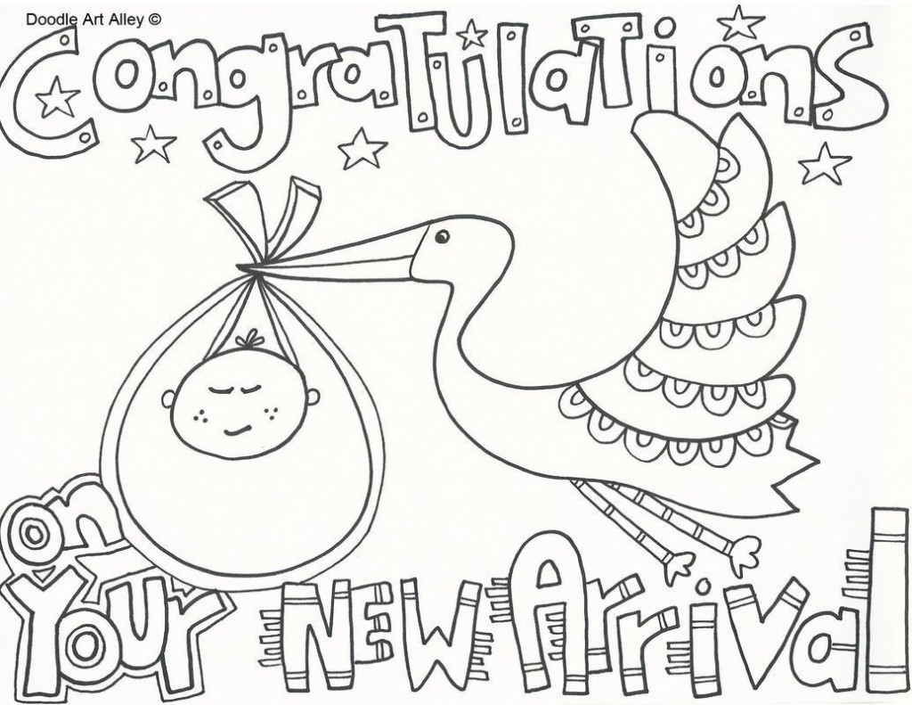 007 Dreaded Baby Shower Card Printable Black And White Design Large