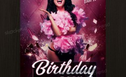 007 Dreaded Birthday Flyer Template Psd Free Download Photo