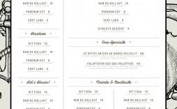 007 Dreaded Blank Restaurant Menu Template Inspiration  Free Printable Downloadable