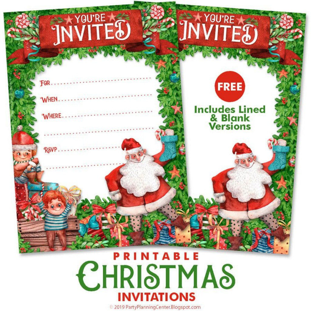 007 Dreaded Christma Party Flyer Template Free Image  Company Invitation Printable WordLarge